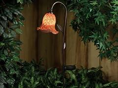 Westinghouse Solar Garden Morning Glory Light, Red