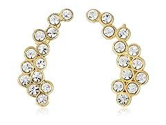 Rebecca Minkoff Gold Crystal Ear Cuffs