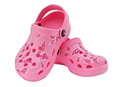 Pink Butterfly Clog