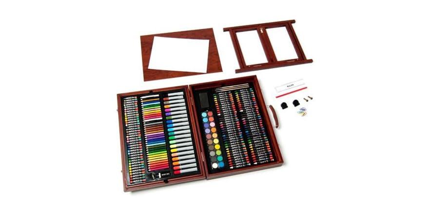 art 101 225 piece wooden case art set kids toys. Black Bedroom Furniture Sets. Home Design Ideas