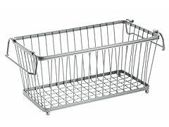 "InterDesign York Silver Lyra 12"" Basket"