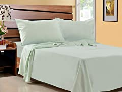 Microfiber Sheet Set-Set of 2-Green-4 Sizes