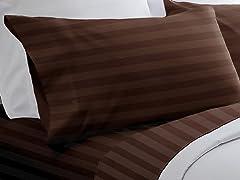 300TC Egyptian Cotton Sheet Set-Chocolate-5 Sizes