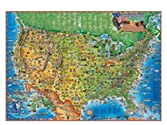 Illustrated Children's USA Wall Map
