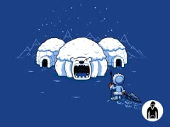 The Hungry Igloo Pullover Hoodie