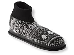 Muk Luks Cullen Retro Nordic Ankle Slipper, BlGr