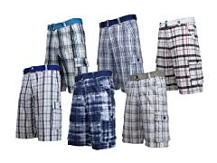 Men's Plaid Cargo Shorts