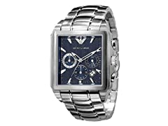 Men's Dress Chronograph, Blue Dial