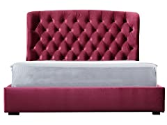 Burgundy Presidio Bed (2 Sizes)