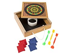 Tabletop Bean Bag Toss & Magnetic Dart Game Set