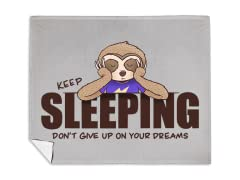 """Don't Give Up On Your Dreams"" Blanket"