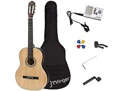 JMFinger Full Size Classical Guitar 39in Guitar for Beginners