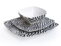 Onyx Wildlife 12-Piece Dinnerware Set