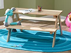 Merry Garden Kids Wooden Picnic Table