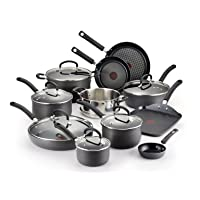 Deals on T-fal E765SH Ultimate Hard Anodized Nonstick 17 Piece Cookware Set