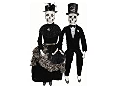"37"" Seated Halloween Couple"