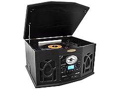 Pyle BT Vintage Trntble w/Vinyl-to-MP3 2 Colors