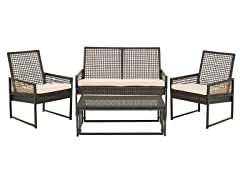 Shawmont 4-Piece Set, Brown/Beige