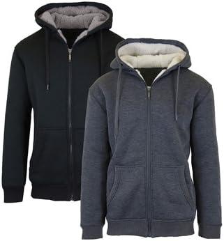 2-Pack Sherpa Lined Fleece Heavy Weight Hoodies