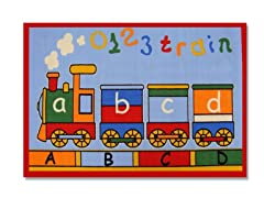 ABC Train Multi Rug