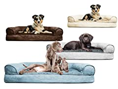 Furhaven Plush Sofa Pet Beds