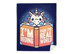 """The Real World Sucks"" Mink Fleece Blanket"