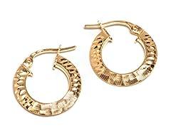 14K Gold DC Hoop Earring