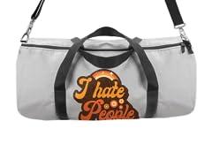 Vintage Hate People Duffle Bag