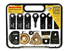 Sonicrafter 15-Piece Accessory Kit and Carry Case