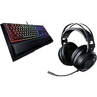 Razer Ornata v2 Wired Gaming Keyboard with RGB Lighting + Razer Nari Essential Wireless Gaming Headset
