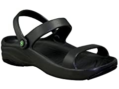 Women's Premium 3-Strap Sandal, Black / Black