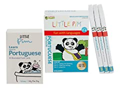 Little Pim Portuguese  Vol 1- 3 Pack DVD Set and Flashcards