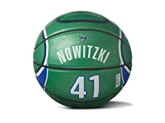 Nowitzki Under Glass Away Jersey Ball