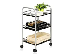 Xiannan L40 Metal 4-Tray Rolling Cart