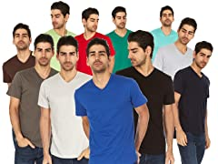 LAT Men's Fine Jersey V-Neck T-Shirt 6-Pk
