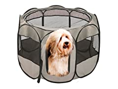 Grey Foldable PlayPen Pet Fence