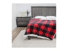 12lb. Weighted Blanket - Red/Black