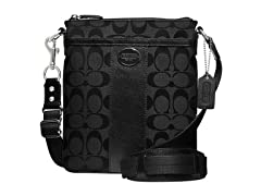 Coach Legacy Signature Swingpack- Black/Black