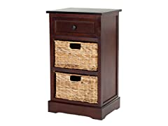 Carrie Storage Side Table - Cherry