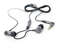 Overkill In-Ear Earphones w/Inline Mic - Black