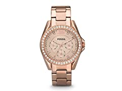 Fossil ES2811P Rose-Tone Stainless Steel Watch