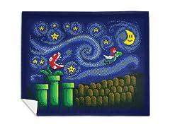 """A Starry Flight Remix"" Mink Fleece Blanket"