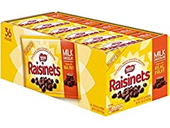 Nestle Raisinets Milk Chocolate, 36ct