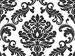 Ariel Damask Peel and Stick Wallpaper