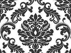 Ariel Damask Peel and Stick Wallpaper