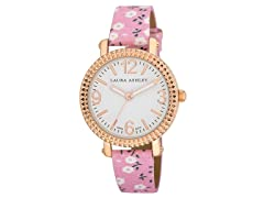 Laura Ashley Ladies Floral Fluted Watch
