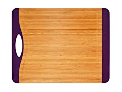 "15"" Non-Skid Cutting Board - Eggplant"