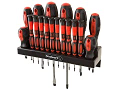 18-Piece Screwdriver Set with Wall Mount