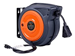 Superhandy 50' 12AWG Extension Cord Reel