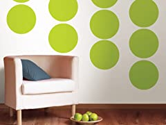 Stylin Green Dot Decals - Set of 20
